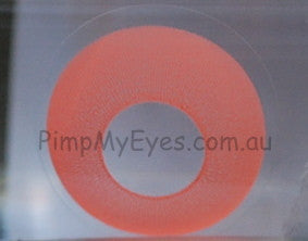 Actual product in Vial - UV Glow Orange Crazy Contact Lenses