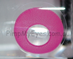 Actual product in Vial - UV Glow Pink Crazy Contact Lenses