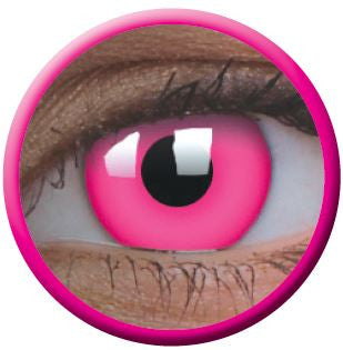 UV Glow Pink Crazy Contact Lenses