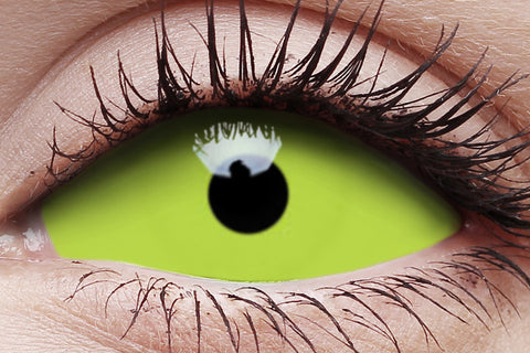 Sclera Spawn Crazy Contact Lens in Eye