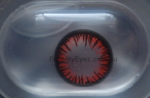 Actual product in Blister - Vampire Crazy Contact Lenses