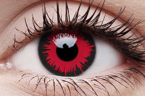 Vampire Crazy Contact Lens in Eye