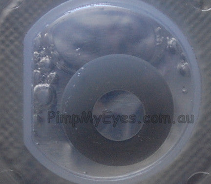 Actual product in Blister - Grey Zombie Crazy Contact Lenses