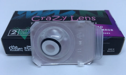 White Zombie One Day Wear Crazy Contact Lenses Pair