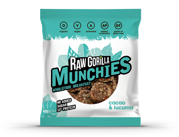 Raw Gorilla Organic, Vegan Cacao and Lucuma Munchies