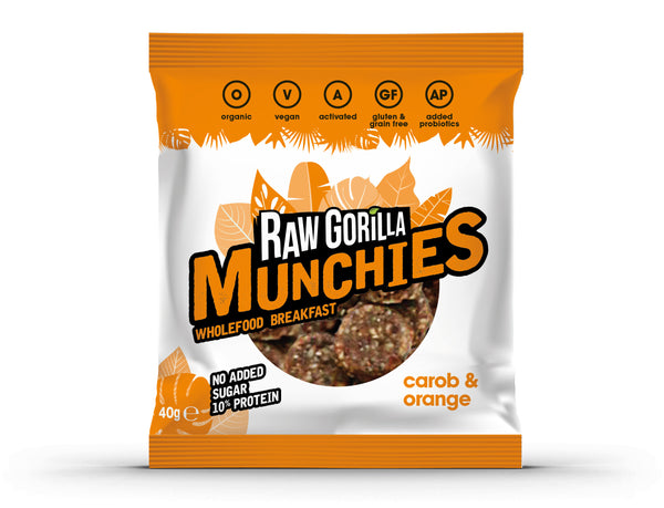 Raw Gorilla Organic, Vegan Carob & Orange Munchies
