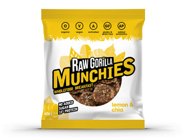 Raw Gorilla Munchies whole food breakfast Cacao & Lemon& Chia