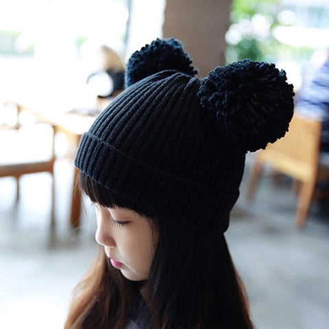 Children's hats keep warm in autumn and winter lovely girls boys and girls baby
