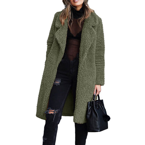 2019 New Winter Thicken Fleece Coats Women Long Warm