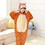 New Cartoon kigurumi Kids Pajamas Set Boys Girls Animal