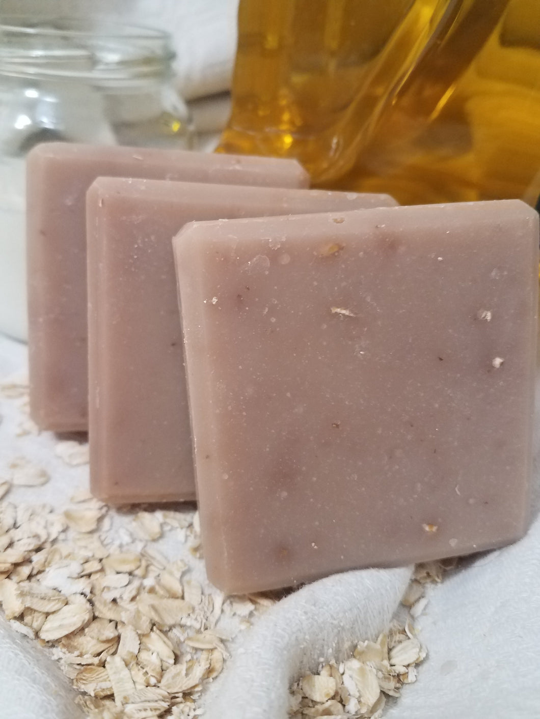 Oats and Goats Milk Soap - Handmade Naturally Scented for Dry Skin