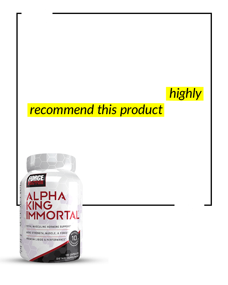 I have more energy and endurance. My muscle mass has drastically increased, and my body fat has decreased. I highly recommend this product to any male who wants to change his body composition, energy, and endurance! – Big T.
