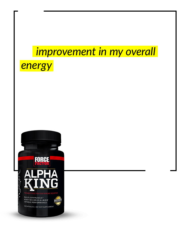 I definitely can feel an improvement in my overall energy. I'm 55 years old and had pretty much given up on feeling better and having energy until I found Force Factor. I highly recommend anyone my age or older try these products. – Pepper