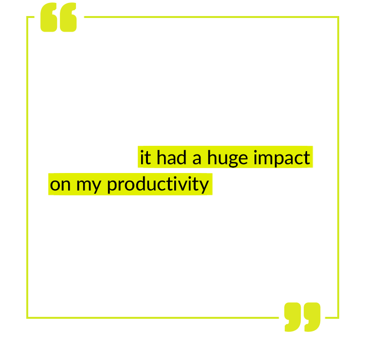 I've previously relied on coffee to feel focused and energized, but hated how much liquid I had to consume daily. When I found Forebrain, it had a huge impact on my productivity. Forebrain conveniently fits into my busy schedule. I take one before I head to work, and I'm good to go! - Amanda N.