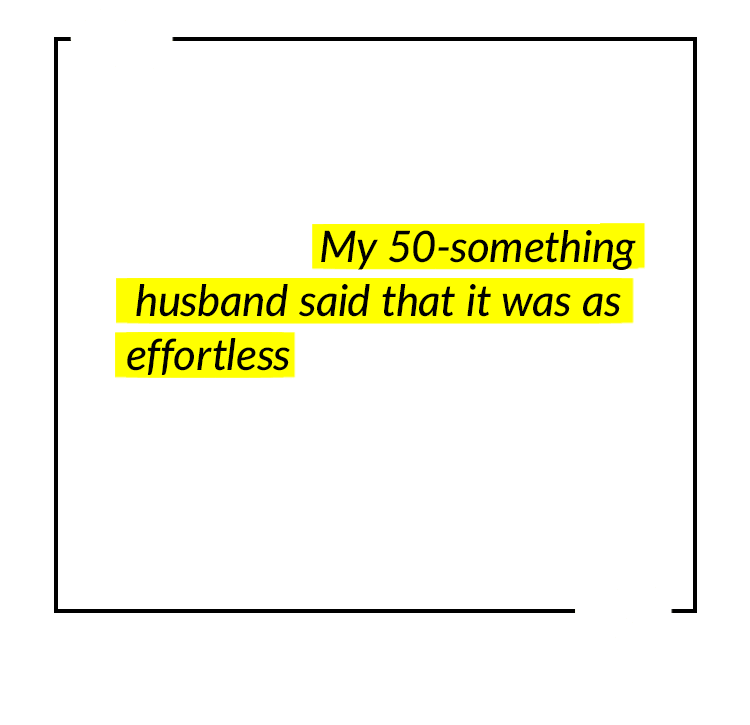 We have used it once so far, after a few (ahem) adult beverages. My 50-something husband said that it was as effortless as if he hadn't had anything to drink. It didn't give him a headache like the prescription medications do. –Suz, Amazon Customer