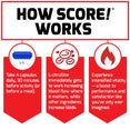How SCORE!® Works. Take 4 capsules daily, 30 minutes before activity (or before a meal). L-citrulline immediately gets to work increasing blood flow where it matters, while other ingredients increase libido. Experience intensified vitality – a boost to performance and satisfaction like you've only ever imagined.