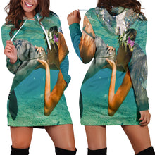 Load image into Gallery viewer, Dolphin Lovers Women's Hoodie Dress