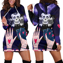 Load image into Gallery viewer, Love Ink Hoodie Dress for Tattoo and Skull Lovers