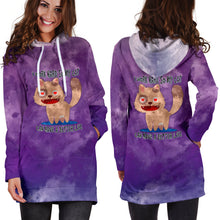 Load image into Gallery viewer, I Work Hard So My Cat Can Have A Better Life Hoodie Dress