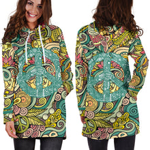 Load image into Gallery viewer, Hippie Peace Women's Hoodie Dress