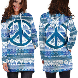 Bus and Peace Hippie Women's Hoodie Dress