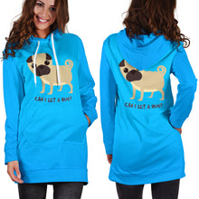 Load image into Gallery viewer, Can I Get A Hug Pug Hoodie Dress