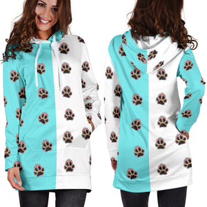 Paw prints hoodie dress
