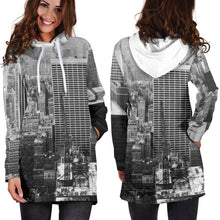Load image into Gallery viewer, New York Print Women's Hoodie Dress