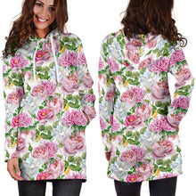 Load image into Gallery viewer, Watercolor Floral Hoodie Dress