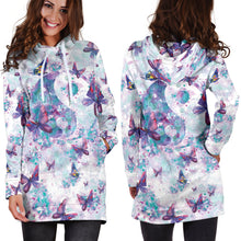 Load image into Gallery viewer, Yin Yang Butterfly Hoodie Dress