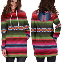 Load image into Gallery viewer, Women's Hoodie Dress - Aztec