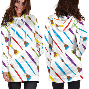 Art Brush Hoodie Dress
