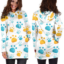 Load image into Gallery viewer, Pawz in Blue Hoodie Dress