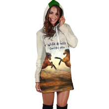 Load image into Gallery viewer, Wild Hearts Can't Be Broken Hoodie Dress for Horse Lovers