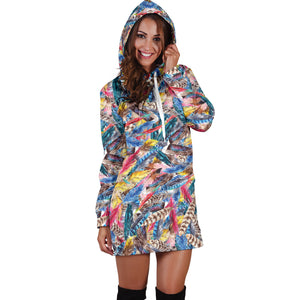 Boho Feather 1 Hoodie Dress
