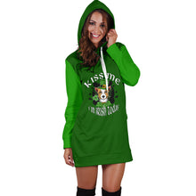 Load image into Gallery viewer, Kiss Me I'm Irish Today Hoodie Dress
