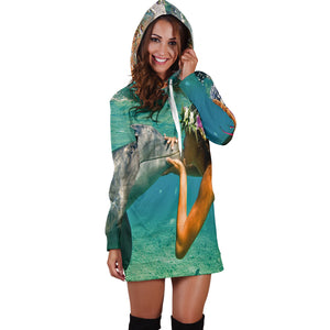 Dolphin Lovers Women's Hoodie Dress