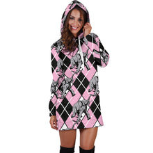 Load image into Gallery viewer, Elephant Argyle Hoodie Dress