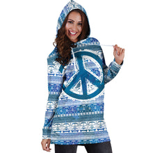Load image into Gallery viewer, Bus and Peace Hippie Women's Hoodie Dress