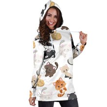 Load image into Gallery viewer, Kitty Kat Hoodie Dress