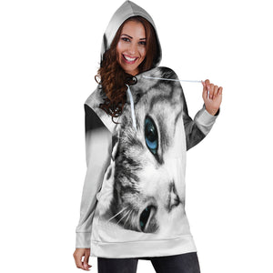 Kitten Women's Hoodie Dress