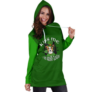 Kiss Me I'm Irish Today Hoodie Dress