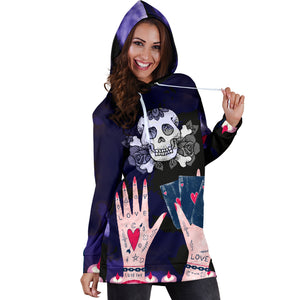 Love Ink Hoodie Dress for Tattoo and Skull Lovers
