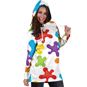 Art Splatter Hoodie Dress - Best Hoodie Dress