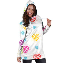 Load image into Gallery viewer, Chain Heart Hooded Dress - Women's Sweatshirts and Hoodies