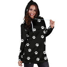 Load image into Gallery viewer, WOMEN'S PAW PRINTS HOODIE DRESS