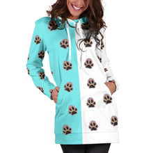 Load image into Gallery viewer, Paw prints hoodie dress
