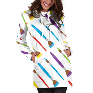 Art Brush Hoodie Dress - Hoodies and Sweatshirts | Best Hoodie Dress