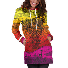 Load image into Gallery viewer, Boho Elephant Women's Hoodie Dress