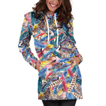 Load image into Gallery viewer, Boho Feather 1 Hoodie Dress